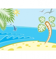 Seascape beach vector