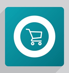 Flat shopping cart icon vector