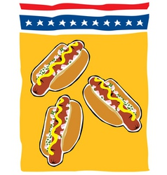 Retro backyard bbq hot dogs vector