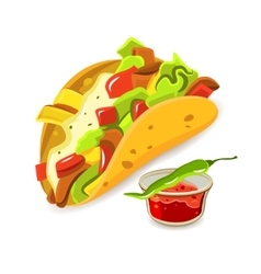 Mexican food taco concept vector