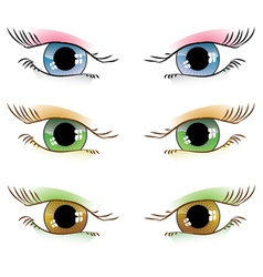 Drawn eyes vector
