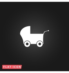 Buggy web icon on a background vector