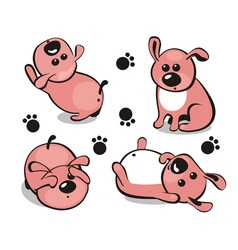 Little puppy vector