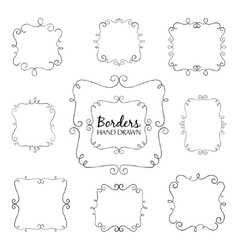 Flourish border set vector