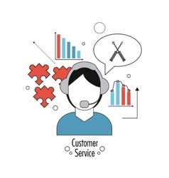 Flat about customer service design vector