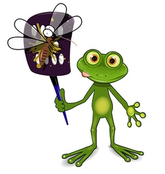 Frog and mosquito vector
