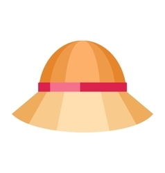 Summer hat isolated on white background vector