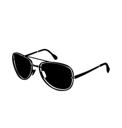 Brutal glasses icon simple style vector