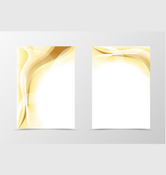 Gold flyer template design vector