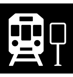Train station sign vector