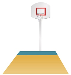Basketball area vector image