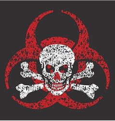 Biohazard skull symbol vector