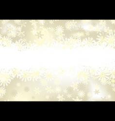 Christmas snowflake gold vector image