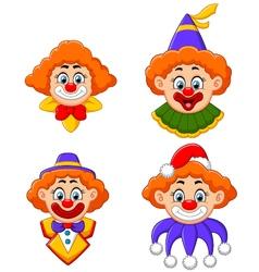 Clowns head collection vector