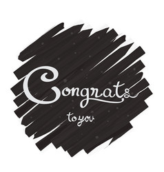 Congratulations lettering design vector