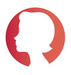 cute woman avatar icon vector image
