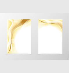 Gold flyer template design vector image