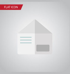 isolated envelope flat icon letter element vector image