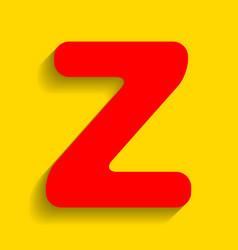 letter z sign design template element red vector image