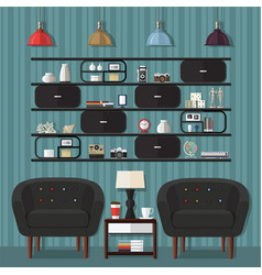 Living room design ideas vector