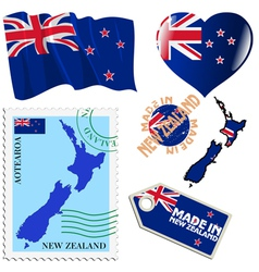 national colours of New Zealand vector image vector image