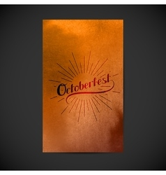 Oktoberfest Holiday vector image