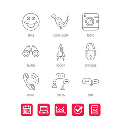 Phone call chat speech bubble and photo icons vector