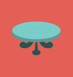 poker table flat vector image
