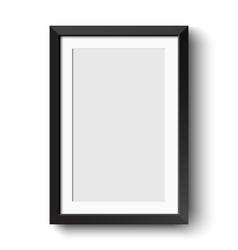 Realistic picture frame isolated on white vector image