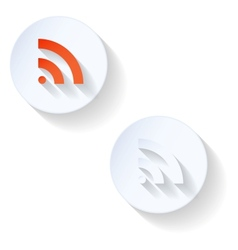 Rss flat icon vector