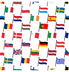 simple color curved flags all european union vector image vector image