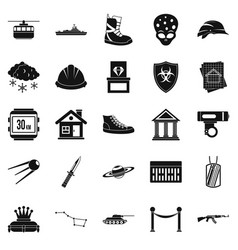 slam icons set simple style vector image