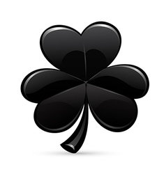 St patricks day trefoil black vector