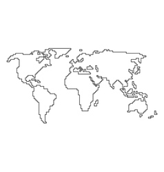 World map angular outline royalty free vector image gumiabroncs