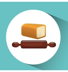 Bakery food icon vector