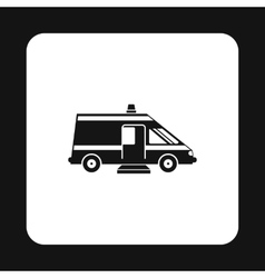 Ambulance icon simple style vector