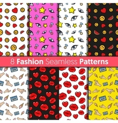 Fashion backgrounds in retro comic style vector
