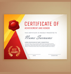 Modern certificate template design vector