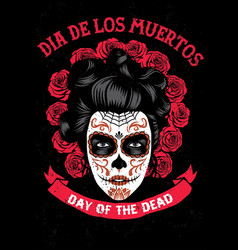 Day of the dead poster vector