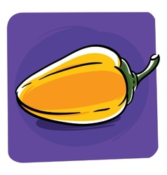 Yellow bell pepper vector