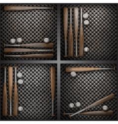 baseball on metal wall vector image