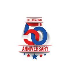 50th years anniversary celebration vector