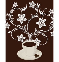 coffee poster vector image