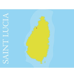 Saint lucia island map vector