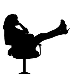 Sexy secretary on chair vector