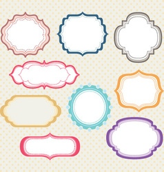 Frames border collections vector