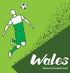 Wales 4 vector image