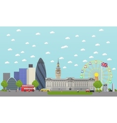 Travel to England concept vector image