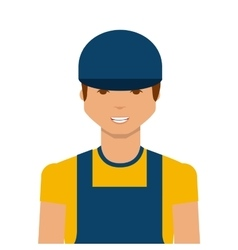 Cartoon worker man vector