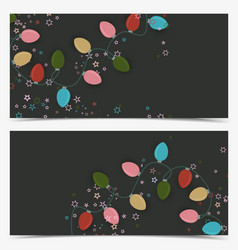 christmas colorful lights vector image vector image